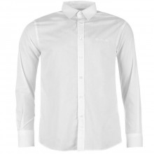 Pierre Cardin Long Sleeve Shirt Mens White
