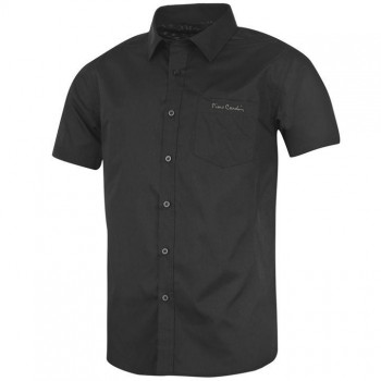 Pierre Cardin Short Sleeve Shirt Mens Black