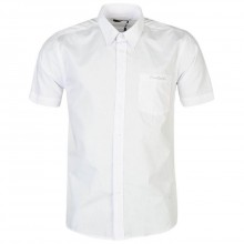 Pierre Cardin Short Sleeve Shirt Mens White