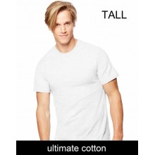 Бели тениски Hanes Ultimate™ Men's Tall ComfortSoft - 5 броя