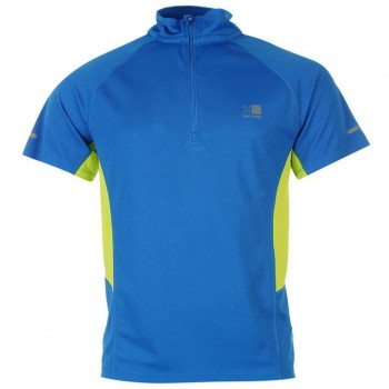Karrimor Zipped Short Sleeved T Shirt Mens Blue