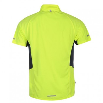 Karrimor Zipped Short Sleeved T Shirt Mens Yellow