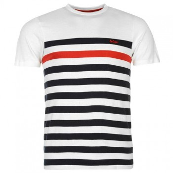 Lee Cooper C Yarn Dye Crew Neck Tshirt Mens