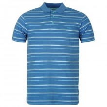 Lee Cooper Stripe Polo Mens Blue