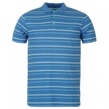 Тениски - Lee Cooper Stripe Polo Mens Blue