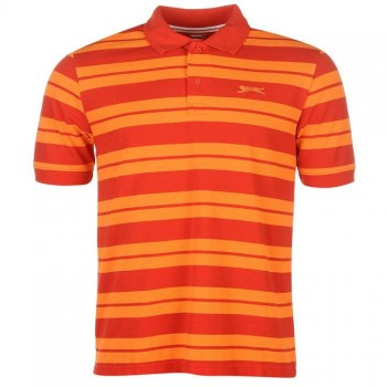 Slazenger Pique Yarn Dye Polo Mens Red