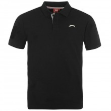 Slazenger Plain Polo Shirt Mens Black