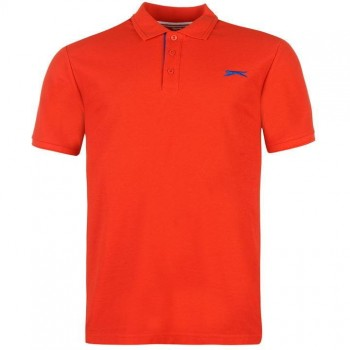 Тениски - Slazenger Plain Polo Shirt Mens Red